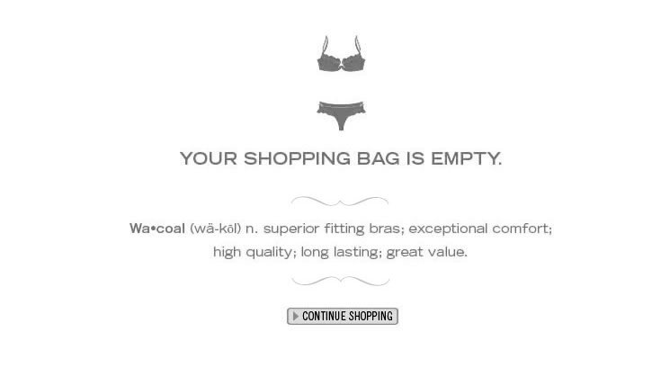 Your Shopping Bag is Empty